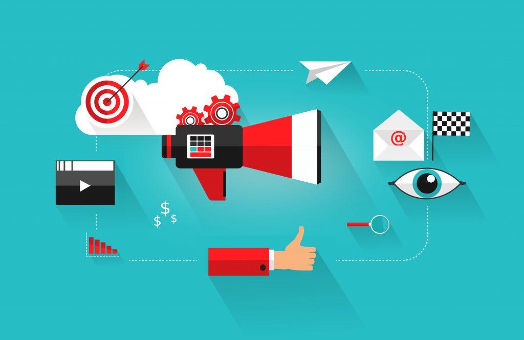 Online content marketing concept